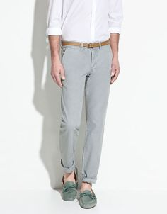 $69.90 LINEN-COTTON TROUSERS - Trousers - Man - ZARA United States