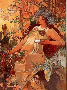 Inspiración para novias: Las ilustraciones 'Art Nouveau' de Alfons Mucha [Fotos]