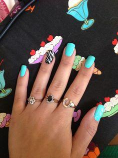 Teal summer nail <3
