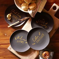 Holiday salad plates from #mywestelm #spon