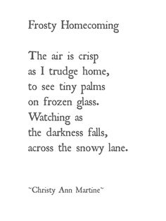 Winter poem snow child waiting at window wintertime snowy lane - Frosting Homecoming ~ poetry writing ~ Christy Ann Martine Winter House, Winter Garden, Winter Time, Cozy Winter, Rodeo Quotes, Winter Songs, Darkness Falls, Writing Poetry, Nature Quotes