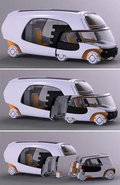 The Colim Modular Camper is a car, a trailer and a motorhome all in one. The Colim Modular Camper is a car, a trailer and a motorhome all in one. The Colim Modular Camper is a car, a trailer and a motorhome all in one. Futuristic Technology, Futuristic Cars, Technology Gadgets, Futuristic Architecture, Futuristic Vehicles, Technology Gifts, Medical Technology, Energy Technology, Amazing Architecture