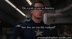 On a scale of one to america, how free are you this weekend.
