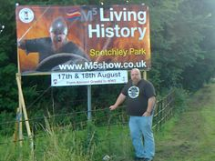 Ulfar and Ulfar!  The publicity banner for the M5 show at Spetchley Park, Worcester, England.