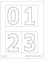 Medium-sized number stencils