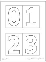 This is a picture of Bewitching Printable Number Stencils