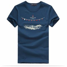 T Shirts : Pioneer Camp Men's Cotton T Shirt Blue Mens Cotton T Shirts, Men's Shirts, Pioneer Camp, Summer, Mens Tops, Blue, Style, Fashion, Moda