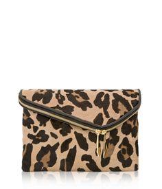 Debutante Asymmetric Haircalf Clutch | Handbags | Henri Bendel