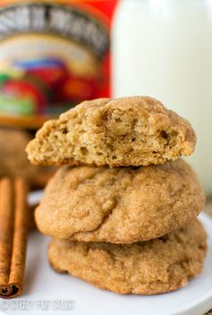 Apple Butter Snickerdoodles Recipe ~ they're a sweet Fall twist on an old favorite cookie
