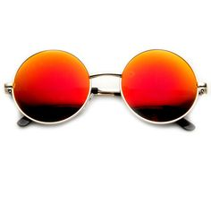Retro Flash Revo Mirror Lens Round Metal Sunglasses 9203 ($9.99) ❤ liked on Polyvore featuring accessories, eyewear, sunglasses, glasses, mirror sunglasses, retro round glasses, mirrored sunglasses, retro style sunglasses and retro mirror sunglasses