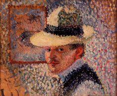 Self Portrait, 1902 Hans Hofmann - pointillism