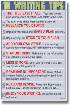 10 Writing Tips - though i can't say that i stick with #4 XP