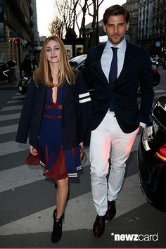 Olivia Palermo and Johannes Huebel attend the Tommy Hilfiger Boutique opening on March 31, 2015 in Paris, France. (Photo by Pierre Suu/GC Images)