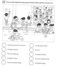 bahasa melayu tah un 1 Kindergarten Test, Kindergarten Reading Activities, Kindergarten Worksheets, Preschool Activities, Learning Letters, Kids Learning, Hidden Picture Puzzles, Malay Language, Body Preschool