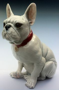 Beethoven French Bulldog in porcelain sculpture by LivingCeramics