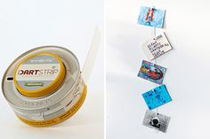 Dartstrip ($25): Dartstrip might be the coolest new way to hang photos. The flexible, eight foot strip of steel has a restickable adhesive backing for easy installation, can be cut to any smaller size, and comes with 16 disc magnets that hold two-dimensional artwork in place.