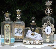 RECICLADO de botellas con decoracion