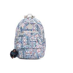 Kipling Tyler Printed Backpack ($109) ❤ liked on Polyvore featuring bags, backpacks, lovely day neutral, dot bag, rucksack bag, dot backpack, knapsack bag and kipling backpack