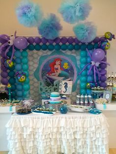 Sabrina`s 4th Birthday Mermaid Party... by Fabs Party Designs!. www.fabspartydesigns.com