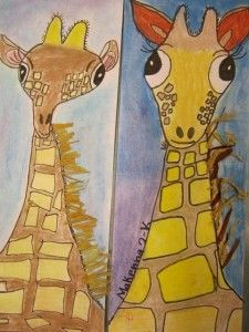 » Second Grade Giraffes Georgetown Elementary Art Blog