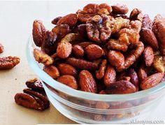 Crockpot Cinnamon & Honey Nuts #crockpotcandiednuts #crockpotsnackrecipes