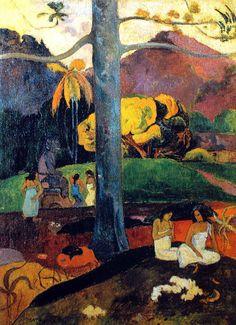 Paul Gauguin - Post Impressionism - Tahiti - Autrefois, il était une fois - 1892 #FredericCla