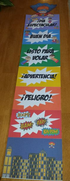 Here is the super hero behavior clip chart that I created in Spanish for my classroom