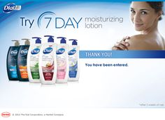 Try Dial 7 Day Moisturizing Lotion for FREE!