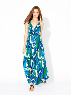 Jersey Knit Rope Halter Maxi Dress by T-Bags on Gilt