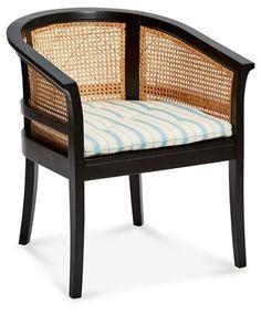 Harper Cane Chair, Light Blue Stripe $1,390.00 Rattan Chairs, Wicker, Blue  Stripes,