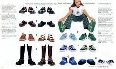 Delia*s Spring Break 1998 Catalog shoe page, platform vans yessssssss