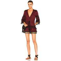 Dodo Bar Or Yefet Romper ($120) ❤ liked on Polyvore featuring jumpsuits, rompers, rompers & jumpsuits, red romper jumpsuit, playsuit jumpsuit, red jump suit, cotton rompers and red rompers
