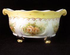 Vintage French Limoges Ornate Bowl Centerpiece