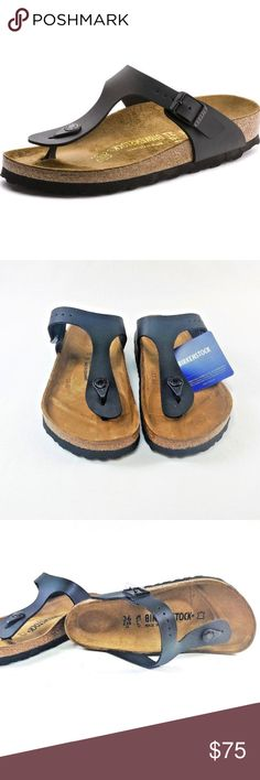 Birkenstock Gizeh Black Size 36- Brand New The modern thong sandal from  Birkenstock. The Gizeh is an addictive classic with signature support and a  refined  ... 2b0ce27a1ba