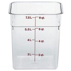 Cambro 8 quart Clear Square Container
