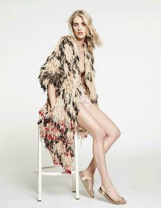 Julia Frauche by Laurent Humbert for Madame Figaro June 2014