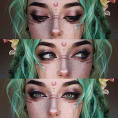 2 Gesicht Make-up-Ideen - Makeup Ideas - portrait . - 2 Gesicht Make-up-Ideen – Makeup Ideas – portrait – Source by farbefest - Makeup Inspo, Makeup Art, Makeup Inspiration, Makeup Ideas, Anime Makeup, Makeup Geek, Goth Eye Makeup, Pastel Goth Makeup, Exotic Makeup