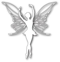Poppystamps Craft Die - Large Poised Faerie now available at The Rubber Buggy Paper Cutting, Pvc Pipe Crafts, Paper Art, Paper Crafts, Fairy Silhouette, Frantic Stamper, 3d Pen, Quilling Patterns, Scroll Saw Patterns