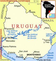 Uruguay Maps Maps of Uruguay OnTheWorldMapcom Uruguay
