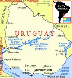 Uruguay Maps Maps Of Uruguay OnTheWorldMapcom Uruguay - Uruguay relief map