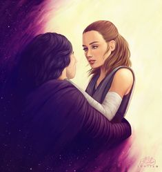 This is the best one I've seen yet. A work of art. I don't know the artist. Star Wars Kylo Ren, Rey Star Wars, Star Wars Art, Kylo Rey, Kylo Ren And Rey, Star Wars Love, Star Wars Girls, Knights Of Ren, Beautiful Disaster