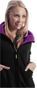 Antidote Women's Main Squeeze Jacket 411  Women's Reversible Fleece Jacket with 4 pockets and a convertible shawl collar. Anti-Static Finish.  Fabric: Antidote Utilitek Stretch Twill 55% Cotton, 42% Polyester, 3% Spandex #scrubcouture #antidote #scrubs #nurses