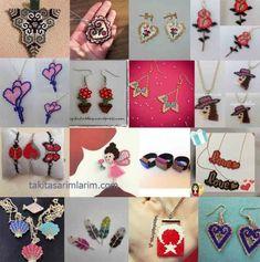 48 | Takı Tasarımları Beaded Jewelry Designs, Jewelry Patterns, Beading Patterns, Jewelry Model, Bead Weaving, Diy And Crafts, Jewelry Accessories, Jewelry Making, Beaded Bracelets