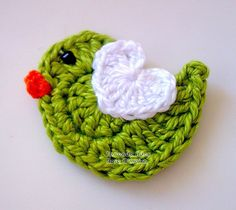 The cutest little crochet bird!
