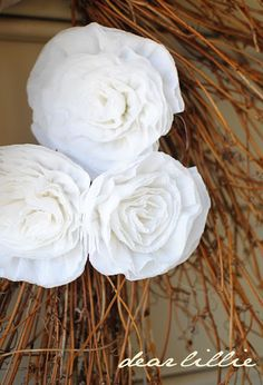 Crepe Paper Peonies Tutorial by Dear Lillie