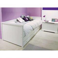 Bopita Tagesbett / Kojenbett NARBONNE, weiß, 3 Schubladen, 90x200cm | Dannenfelser