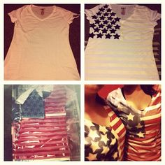 Melissa and I, DIY fourth of July shirts!