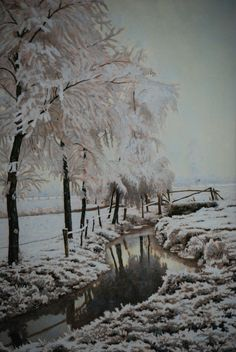 Rozenburg - tegelplaat winterlandschap