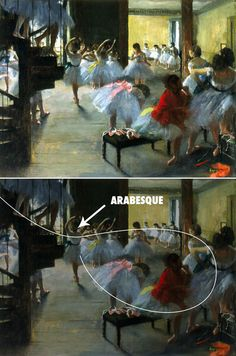 Painting by Edgar Degas showing an Arabesque. Rule Of Thirds Photography, Photography Rules, Paint Photography, Photography Lessons, Composition Painting, Composition Design, Storyboard, Elements Of Art, Environmental Art