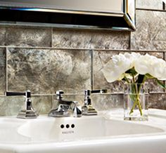crazy pretty tiles.. Glass - Lucian Metallics - Ann Sacks Tile & Stone
